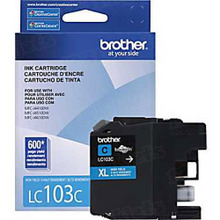 Brother LC103C Cyan OEM Ink Cartridge, High-Yield