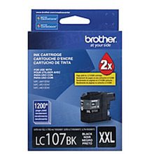 Brother LC107BK Black OEM Ink Cartridge, Extra High-Yield
