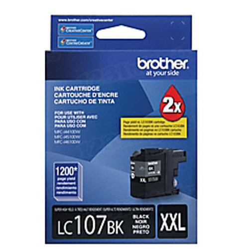 Brother LC107BK Black OEM High-Yield Ink Cartridge