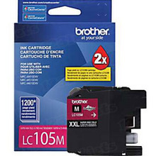 Brother LC105M Magenta OEM Ink Cartridge, Extra High-Yield