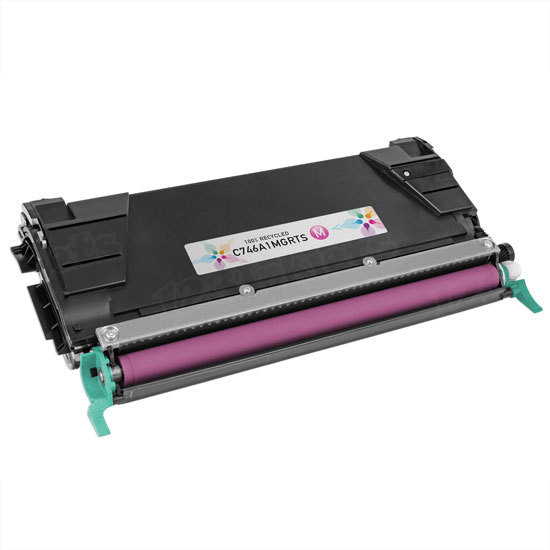 Remanufactured C746A1MG Magenta Toner for Lexmark