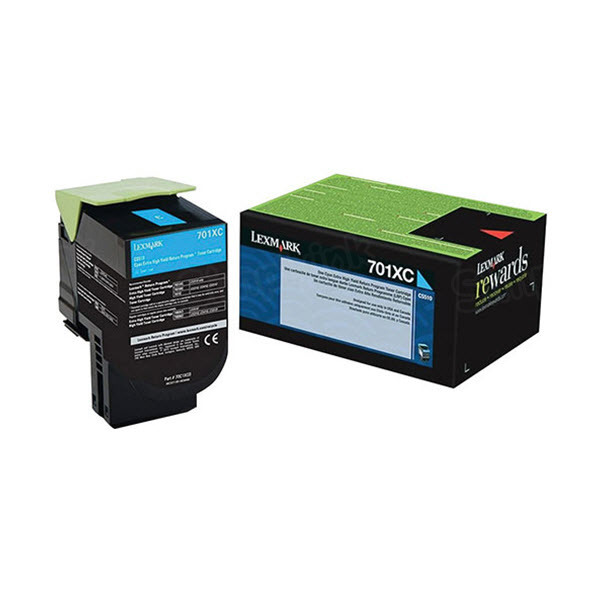 Lexmark Original Extra HY Cyan Return Program Toner, 70C1XC0 (701XC)