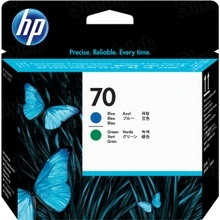 Original HP 70 Blue and Green Printhead in Retail Packaging (C9408A)