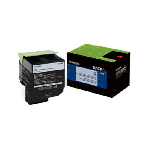 Lexmark Original Extra HY Black Return Program Toner, 70C1XK0 (701XK)