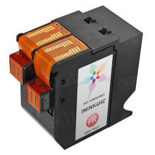 Remanufactured Hasler IMINK4HC / 4145711Y High Yield Fluorescent Red Ink Cartridges
