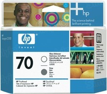 Original HP 70 Gloss and Gray Printhead in Retail Packaging (C9410A)