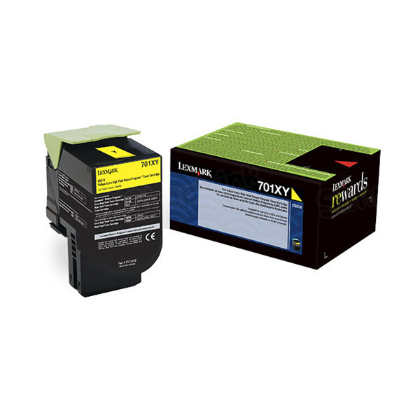 Lexmark Original Extra HY Yellow Return Program Toner, 70C1XY0 (701XY)