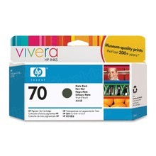 Original HP 70 Matte Black Ink Cartridge in Retail Packaging (C9448A)