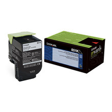 Lexmark OEM Black Return Program Laser Toner Cartridge, 80C10K0 (CX310/CX410/CX510 Series) (1K Page Yield)