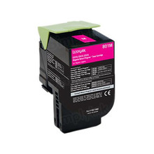 Lexmark OEM Magenta Return Program Laser Toner Cartridge, 80C10M0 (CX310/CX410/CX510 Series) (1K Page Yield)