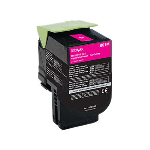 Lexmark Original Magenta Return Program Toner, 80C10M0 (801M)