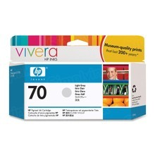 Original HP 70 Light Gray Ink Cartridge in Retail Packaging (C9451A)