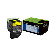 Lexmark OEM Yellow Return Program Laser Toner Cartridge, 80C10Y0 (CX310/CX410/CX510 Series) (1K Page Yield)