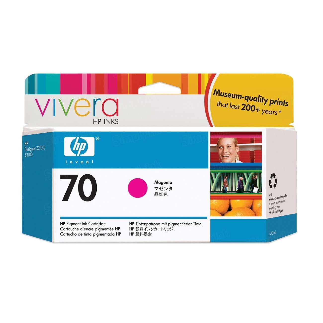 HP 70 Magenta Original Ink Cartridge C9453A