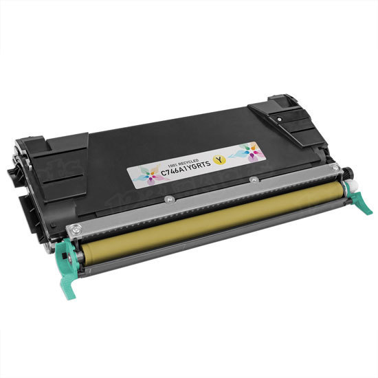 Remanufactured C746A1YG Yellow Toner for Lexmark