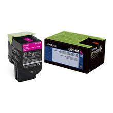 Lexmark OEM High Yield Magenta Return Program Laser Toner Cartridge, 80C1HM0 (CX410/CX510 Series) (3K Page Yield)