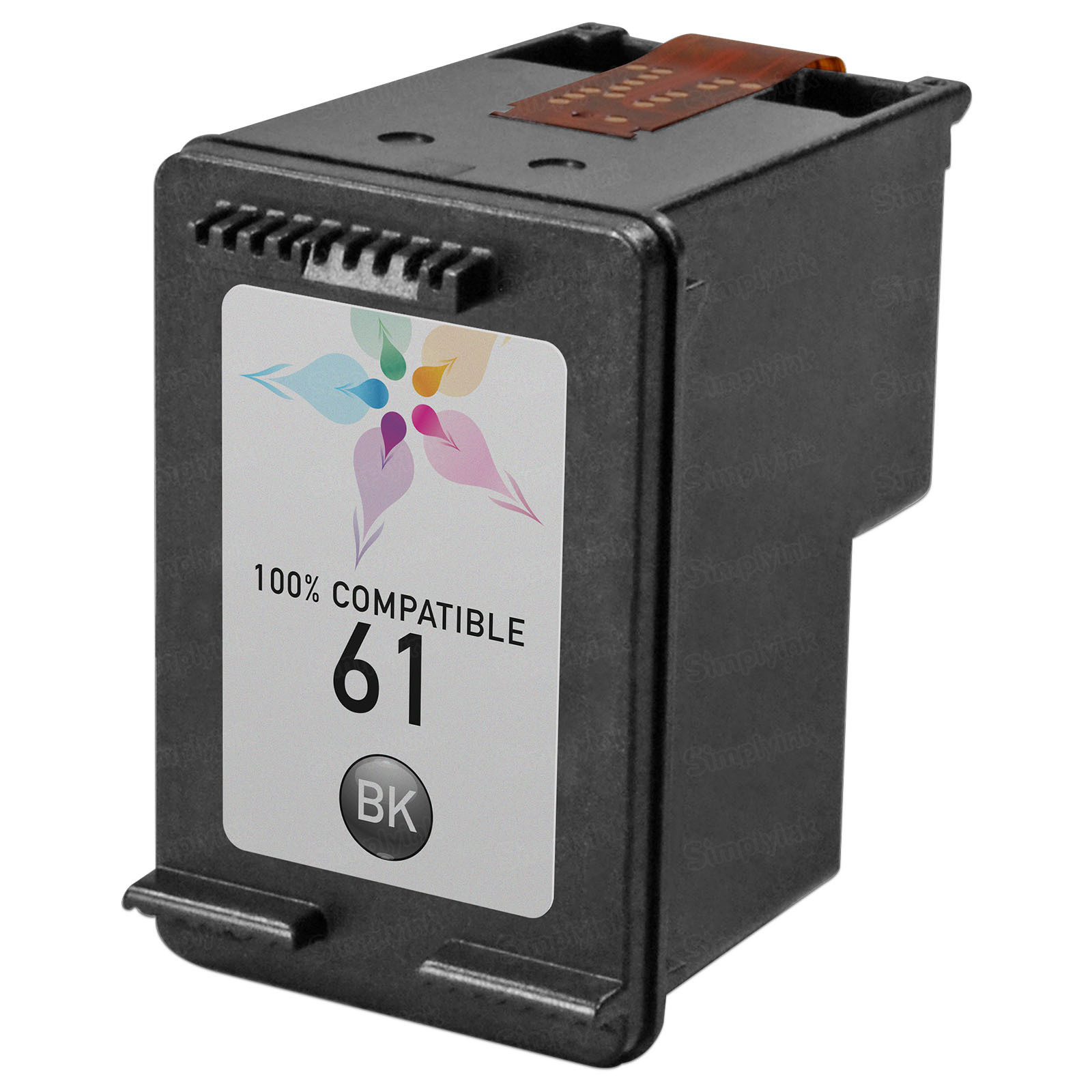 Remanufactured Replacement Black Ink for HP 61