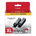 Canon OEM 0319C005 (PGI-270XL) Twin Pack, High-Yield Black Ink