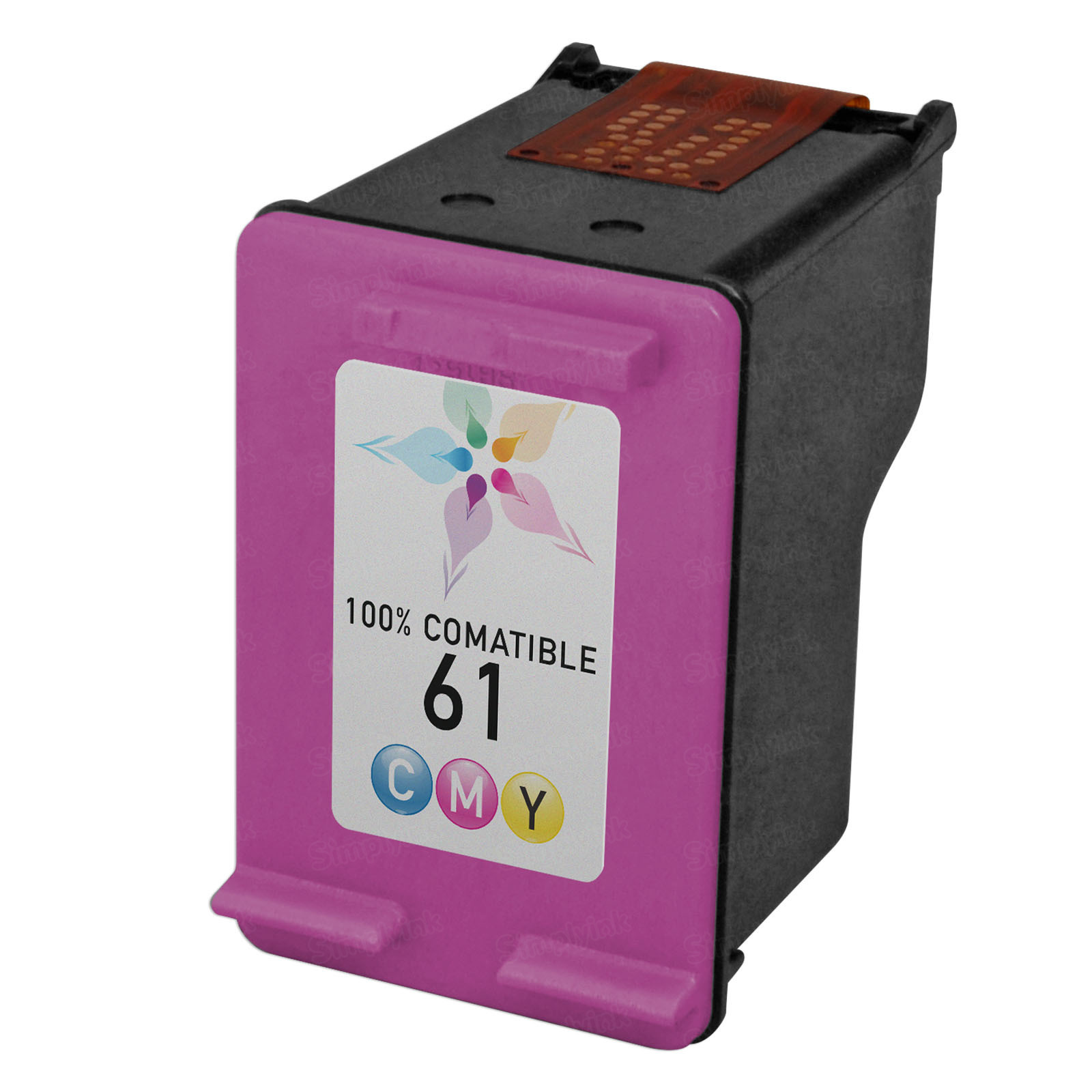 Remanufactured Replacement Tri-Color Ink for HP 61