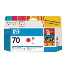 Original HP 70 Red Ink Cartridge in Retail Packaging (C9456A)