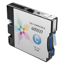Compatible Ricoh 405537 (GC 21CH) High-Yield Cyan Ink Cartridges