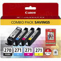 Canon OEM 0373C005 (PGI-270 / CLI-271) 4-Color Multipack Ink Cartridge