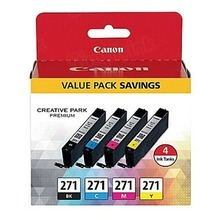 Canon OEM 0390C005 (CLI-271) Ink Cartridge 4-Color Multipack