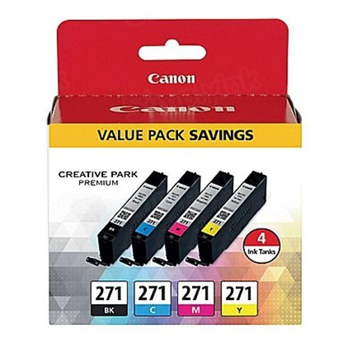 Canon OEM 0390C005 (CLI-271) Ink Cartridge Multipack