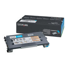 Lexmark OEM High Yield Cyan Laser Toner Cartridge, C500H2CG (X500/X502/C500 Series) (3K Page Yield)