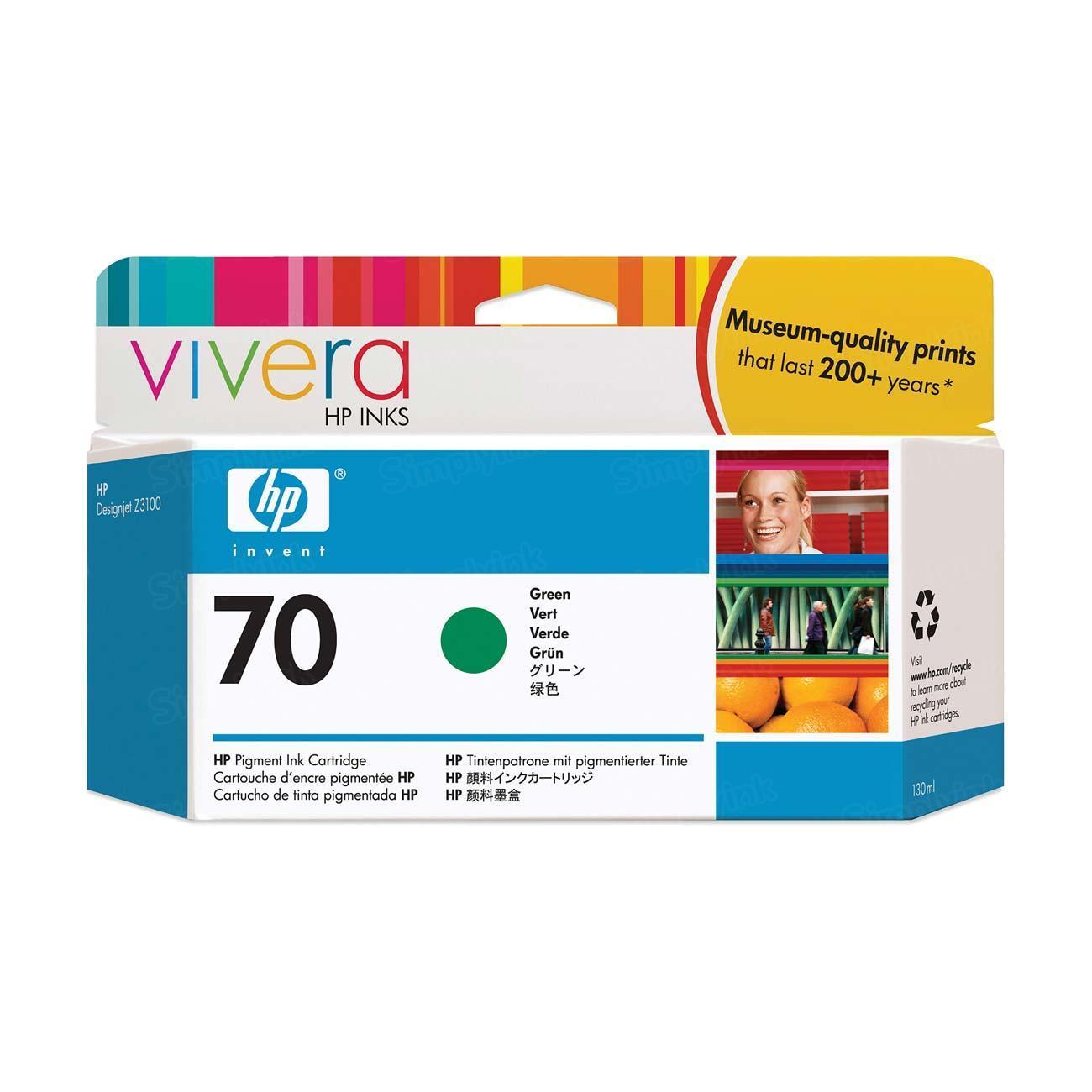 HP 70 Green Original Ink Cartridge C9457A