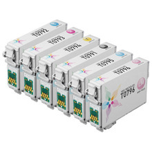 Remanufactured 6 Pack for Epson 79: 1 Black, Cyan, Magenta, Yellow, Light Cyan, Light Magenta