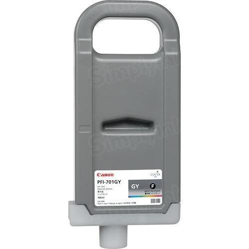 Canon OEM 0909B001AA (PFI-701G) High-Yield Gray Ink Cartridge