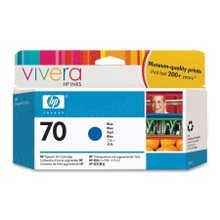 Original HP 70 Blue Ink Cartridge in Retail Packaging (C9458A)
