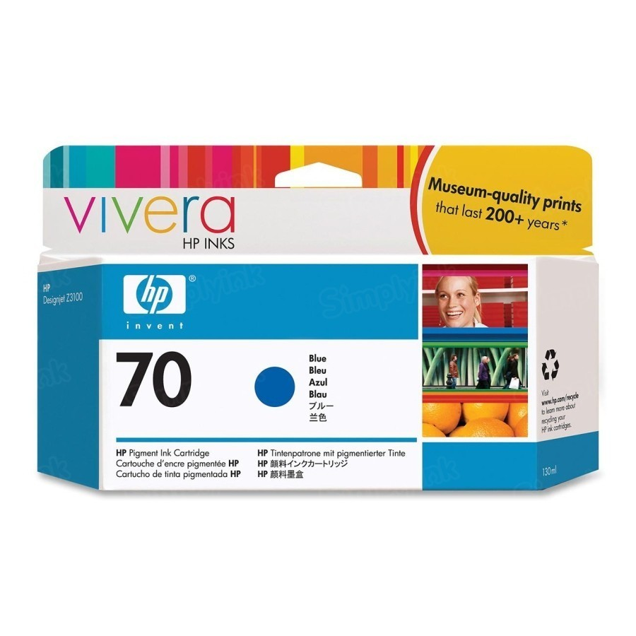 HP 70 Blue Original Ink Cartridge C9458A