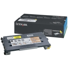 Lexmark OEM High Yield Yellow Laser Toner Cartridge, C500H2YG (X500/X502/C500 Series) (3K Page Yield)
