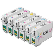 Remanufactured 6 Pack for Epson T098 / T099: 1 Black, Cyan, Magenta, Yellow, Light Cyan, Light Magenta