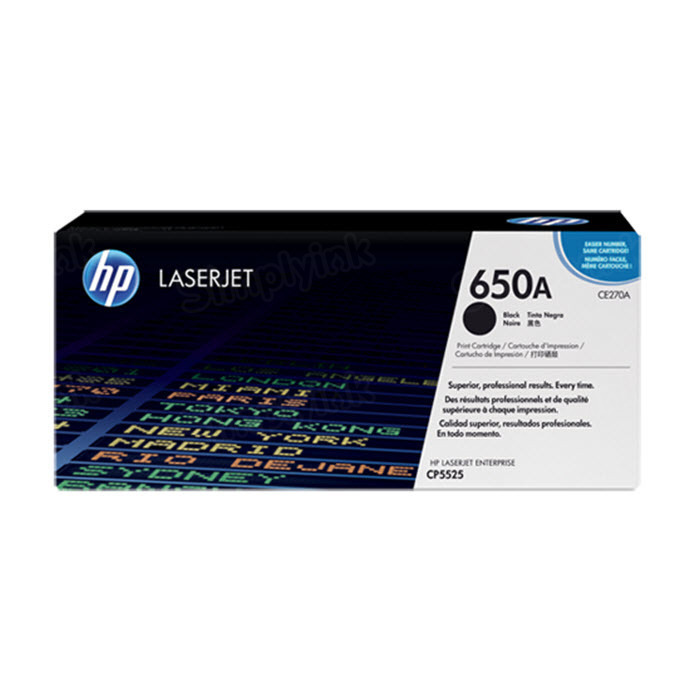 Original HP CE270A (650A) Black Toner