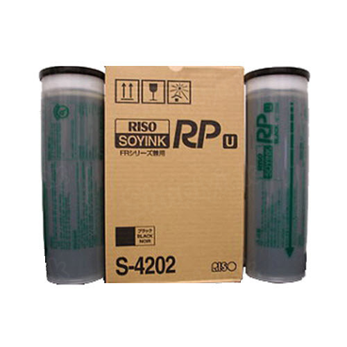 Risograph S-4202 Black OEM Ink Cartridge 2PK
