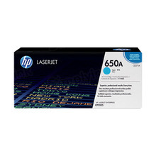 HP 650A (CE271A) Cyan Original Toner Cartridge in Retail Packaging