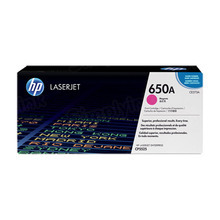 HP 650A (CE273A) Magenta Original Toner Cartridge in Retail Packaging