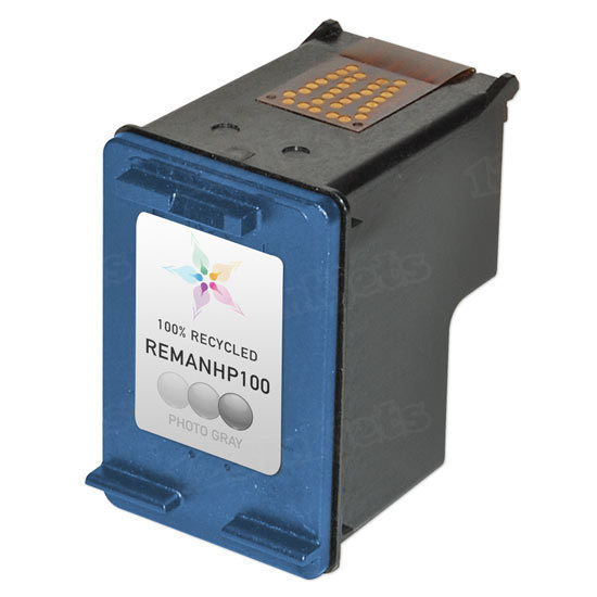 Remanufactured Replacement Photo Gray Ink for HP 100