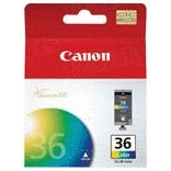 Canon CLI-36 Color OEM Ink Cartridge, 1511B002