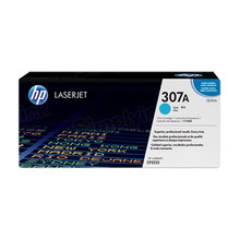 HP 307A (CE741A) Cyan Original Toner Cartridge in Retail Packaging