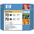 HP 70 Matte Black Original Ink Cartridge 2PK CB339A