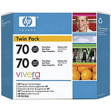 Original HP 70 Photo Black Ink Cartridge 2-Pack in Retail Packaging (CB340A) High-Yield