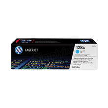HP 128A (CE321A) Cyan Original Toner Cartridge in Retail Packaging