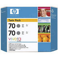 HP 70 Gray Original Ink Cartridge 2PK CB341A