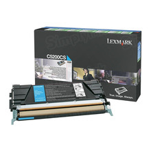 Lexmark OEM Cyan Return Program Laser Toner Cartridge, C5200CS (C520/C530 Series) (1.5K Page Yield)