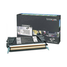 Lexmark OEM Black Return Program Laser Toner Cartridge, C5200KS (C520/C530 Series) (1.5K Page Yield)