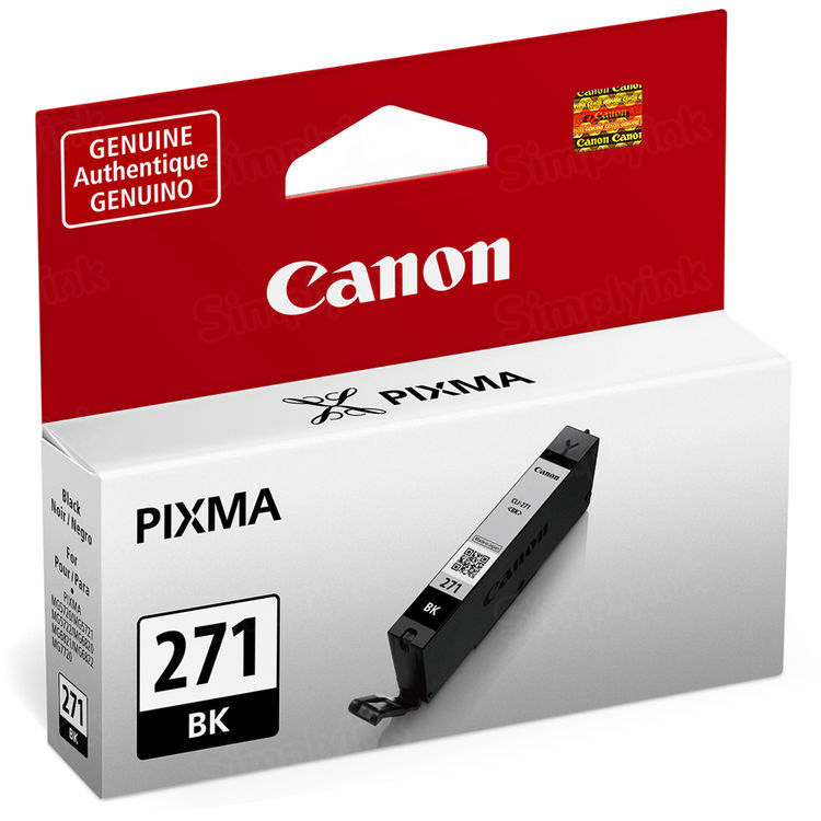 Canon CLI-271 Black Ink Cartridge, OEM